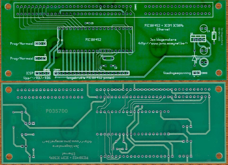 PCB front- and back-side